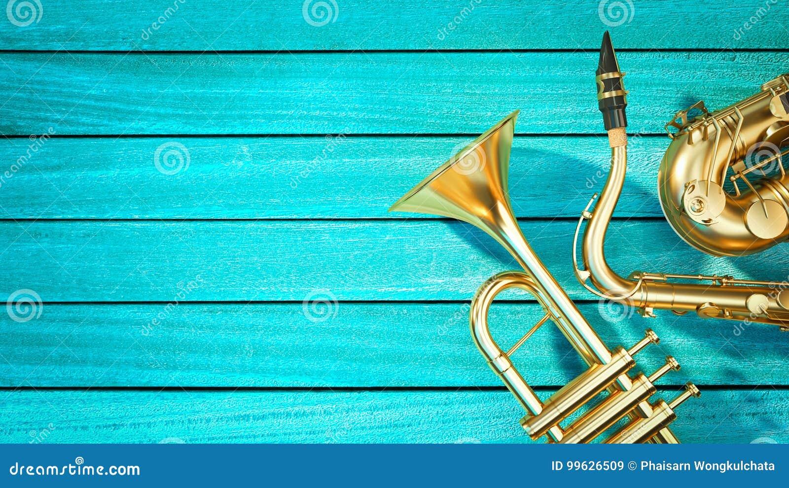 Saxophone et trompette