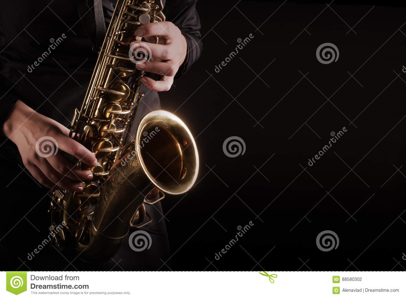 Saxophone Player Saxophonist playing jazz music