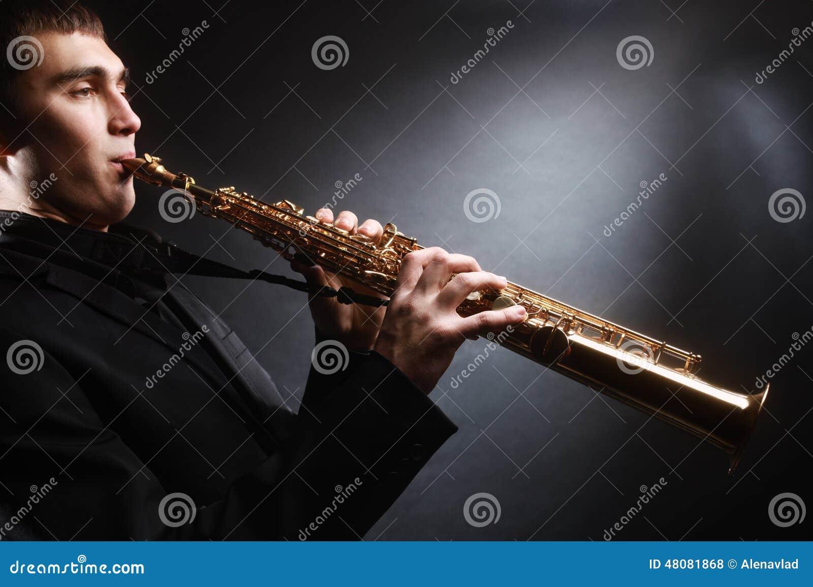 Soprano saxophone player