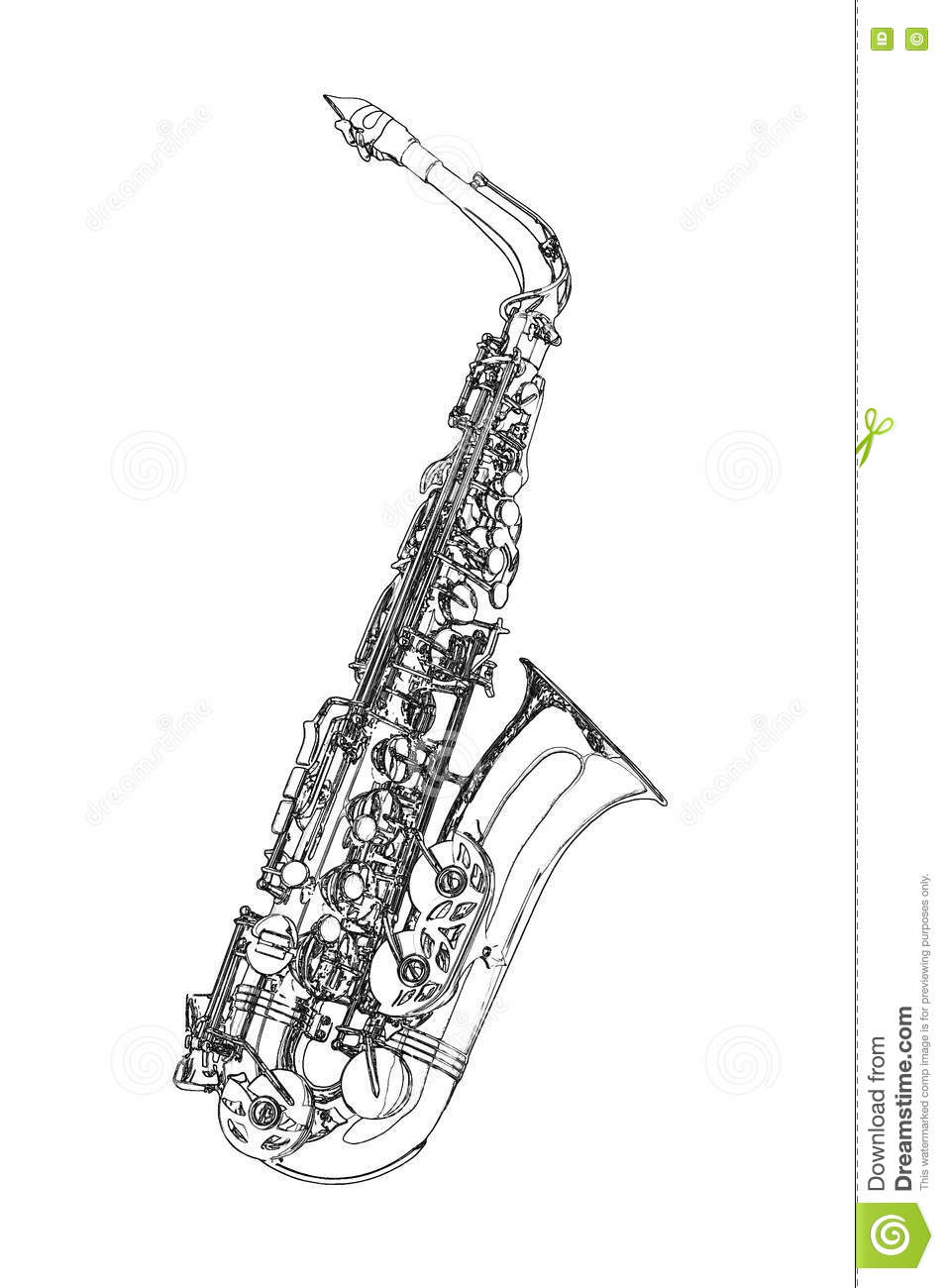 saxophone doodle hand drawn sketch vector illustration saxophone clipart images saxophone clip art dots