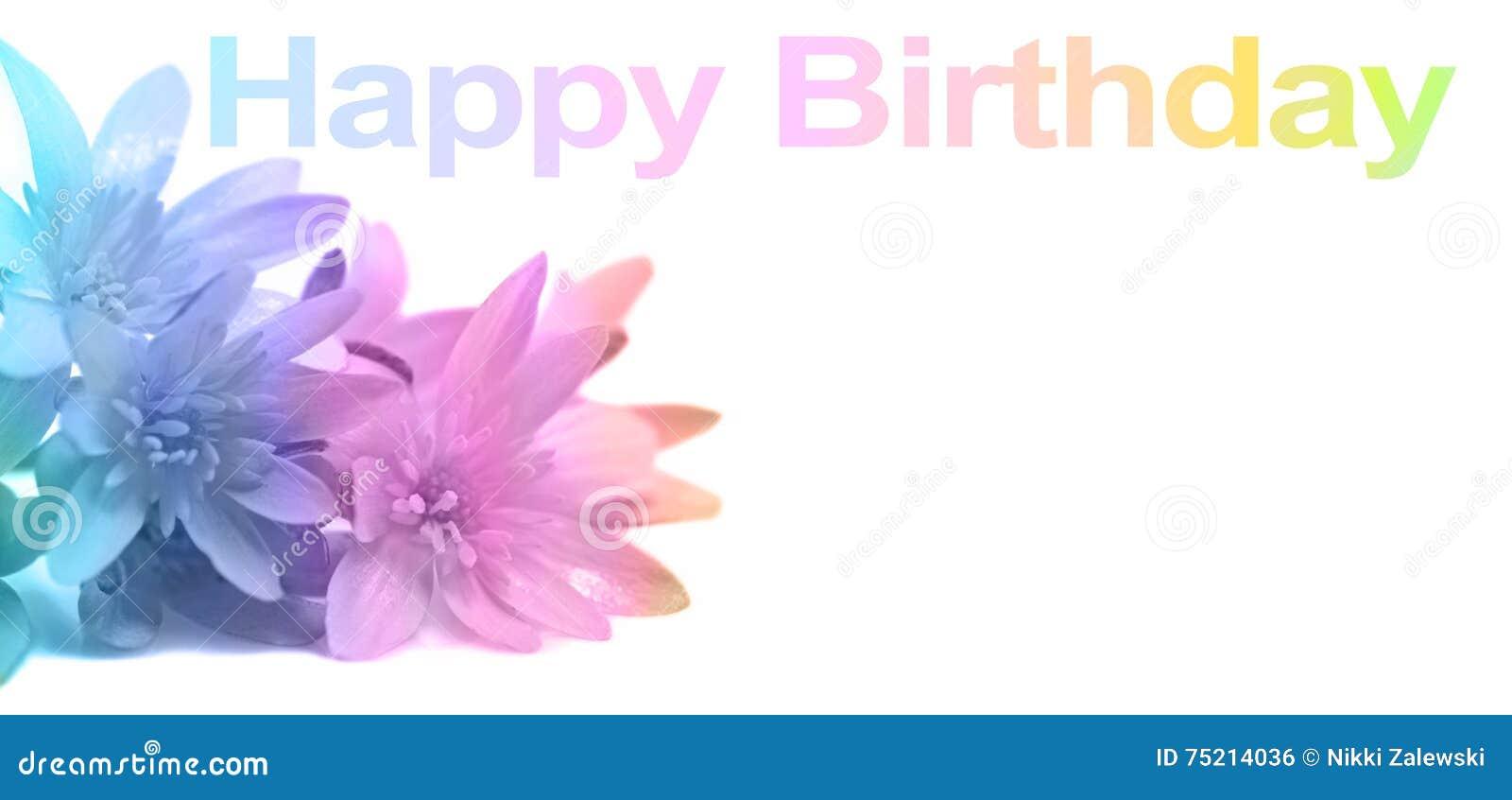 Say happy birthday with flowers stock illustration illustration of say happy birthday with flowers izmirmasajfo Choice Image