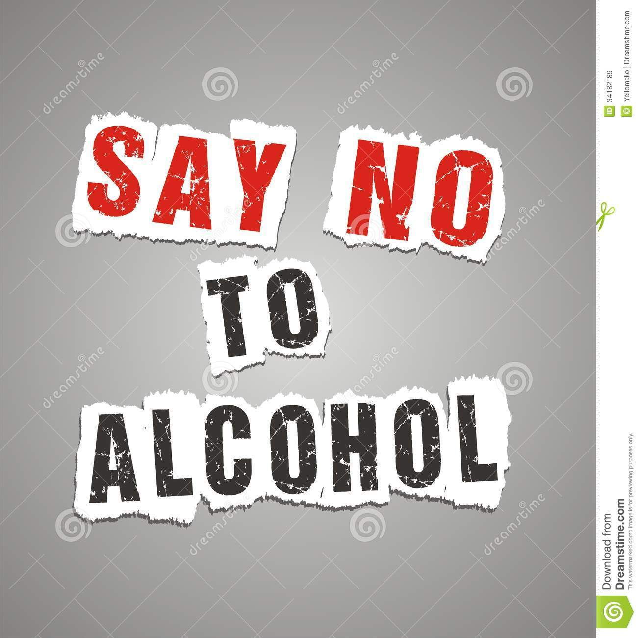 Say no to alcohol poster stock illustration  Illustration of