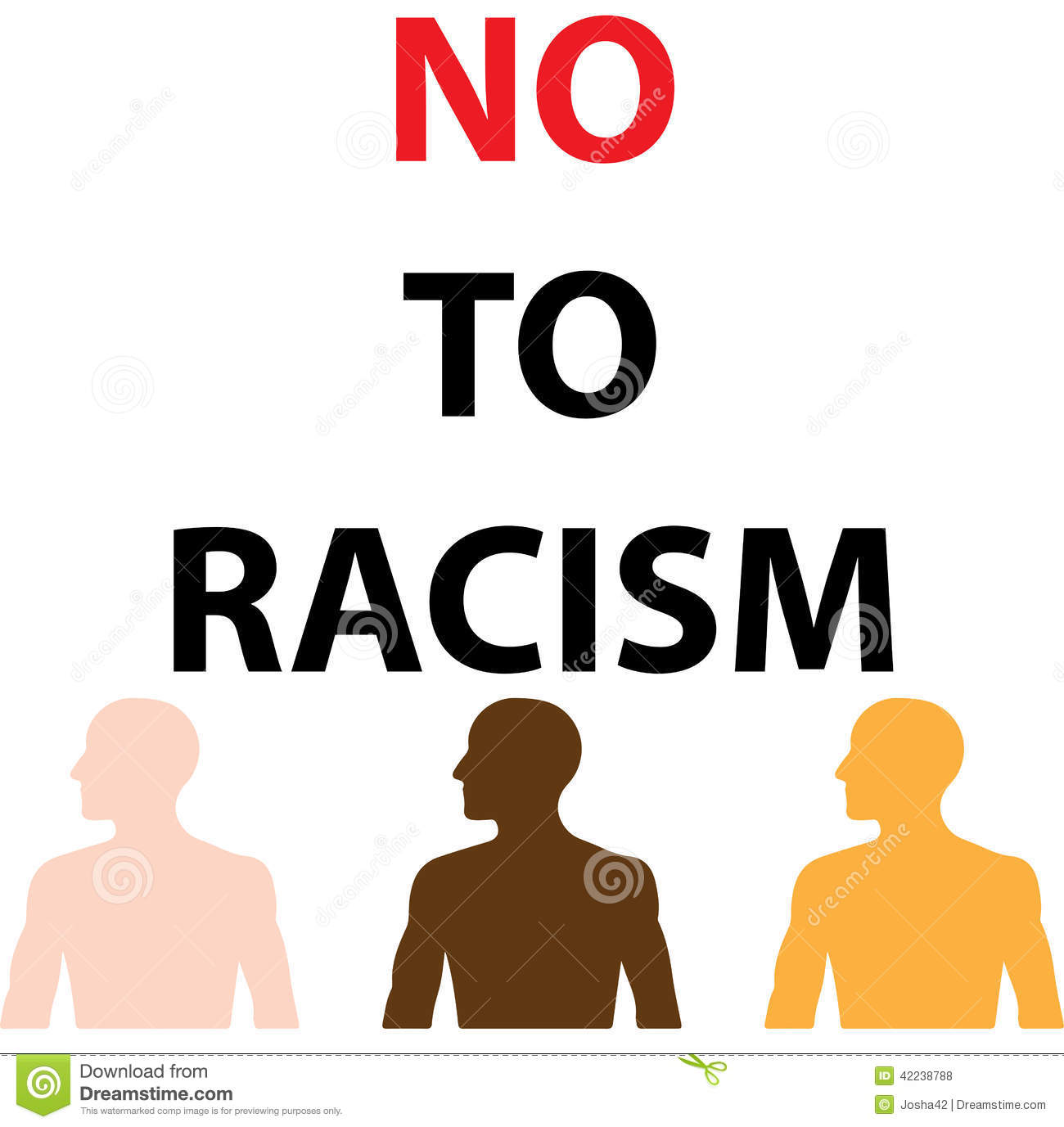 Say No To Racism Stock Vector - Image: 42238788