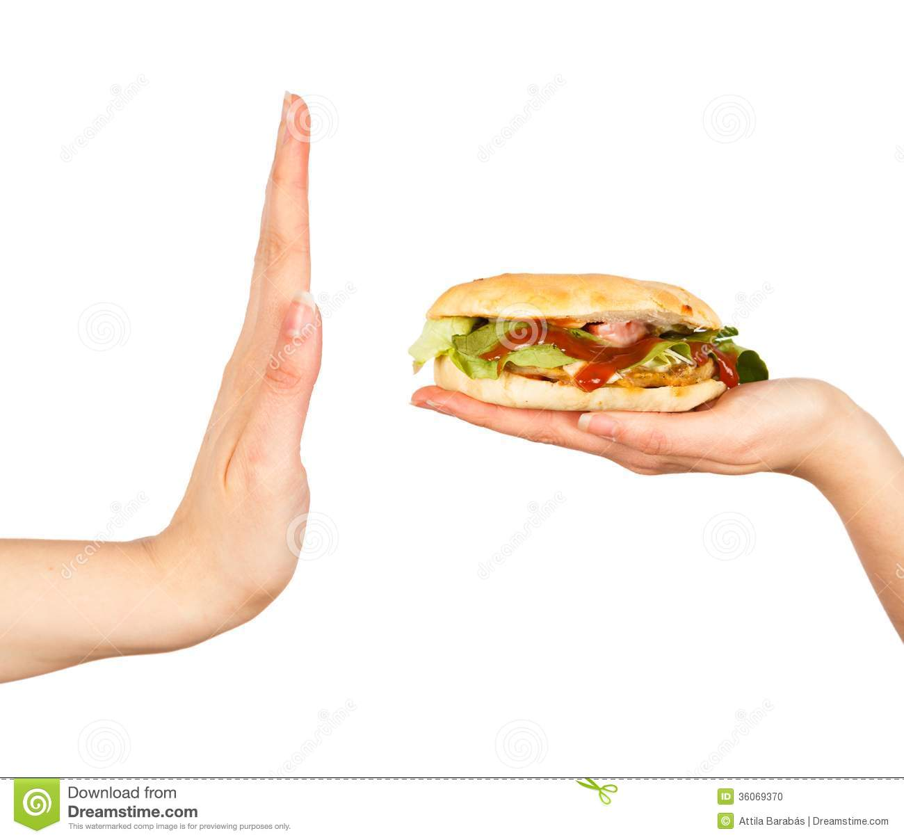 say no to unhealthy food stock photo 36069370 megapixl