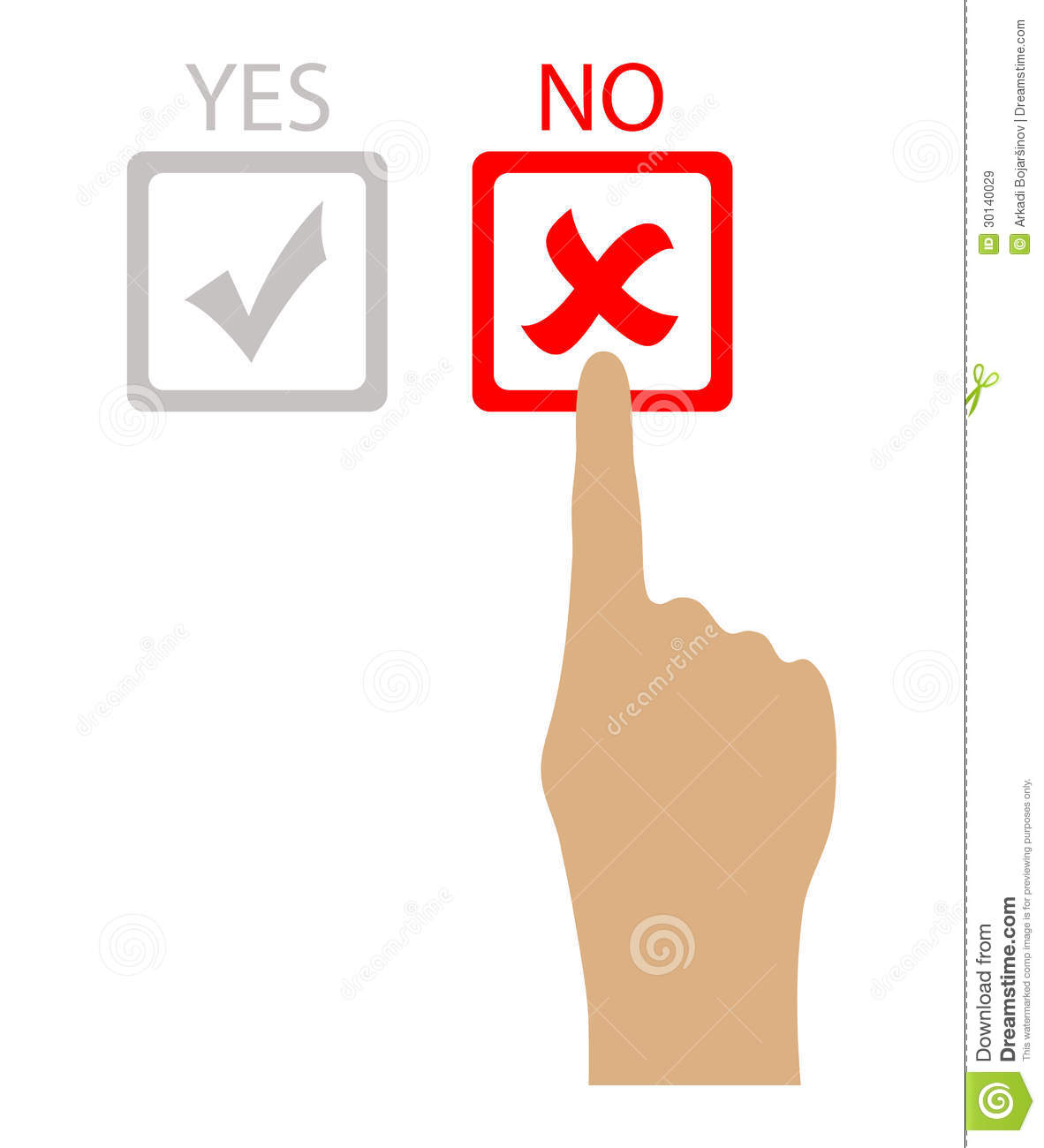 Say no stock vector illustration of against poll for Free clipart no copyright