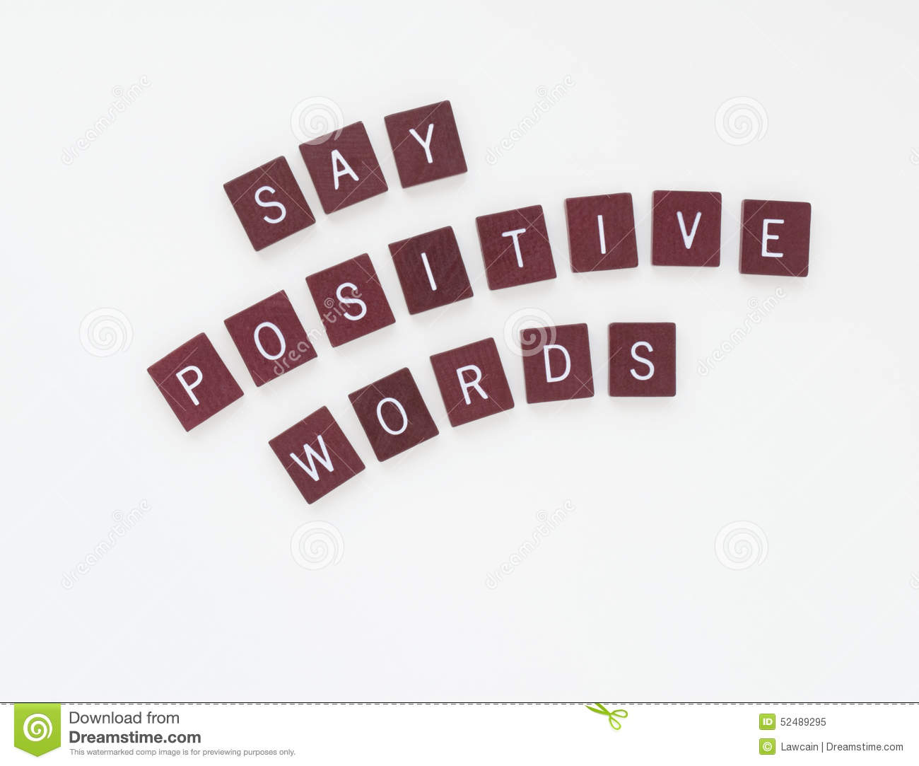 Say Positive Words with Curved Letters