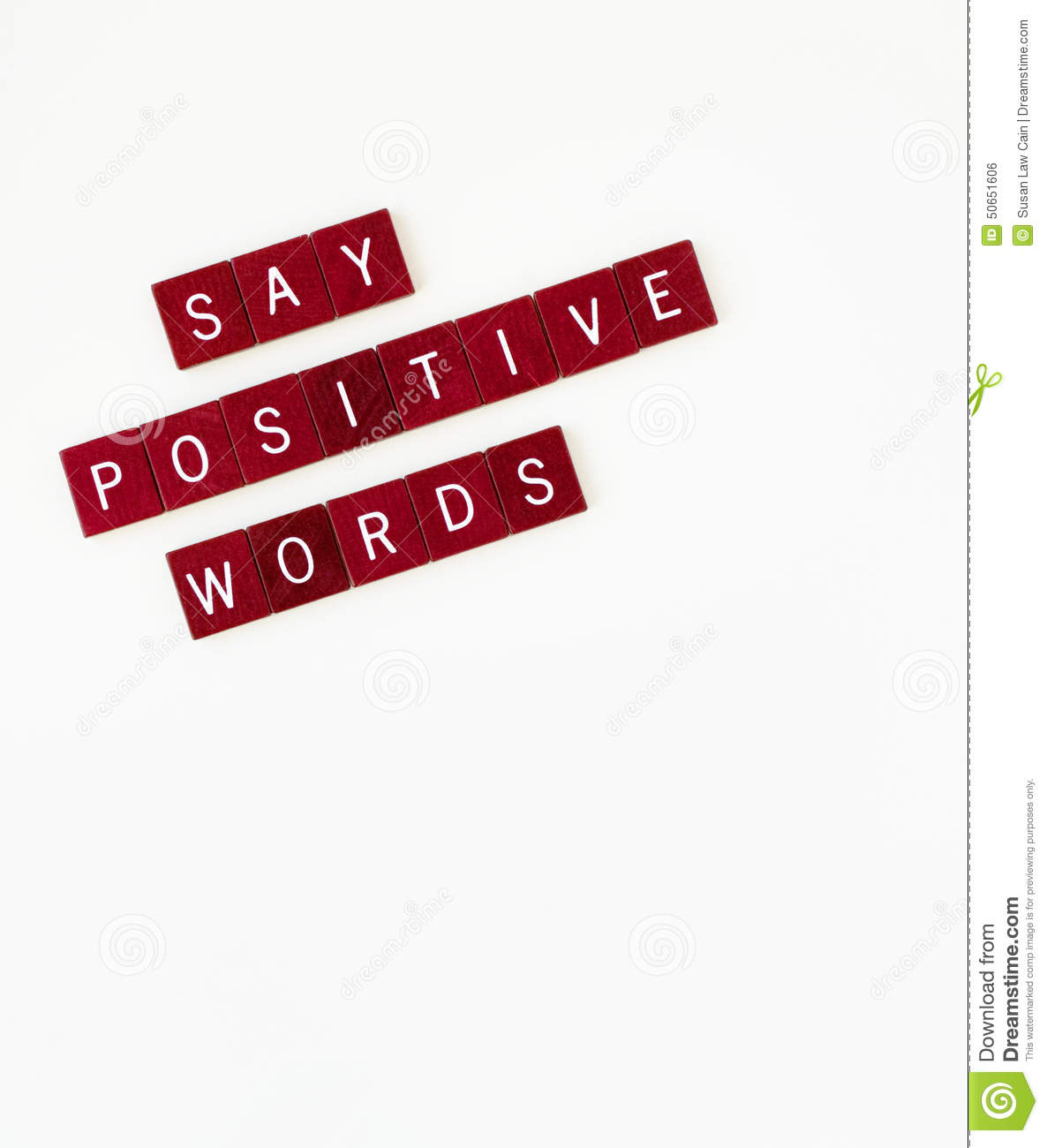 Say Positive Words, Vertical