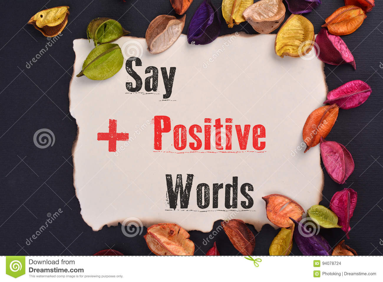 Say Positive Words
