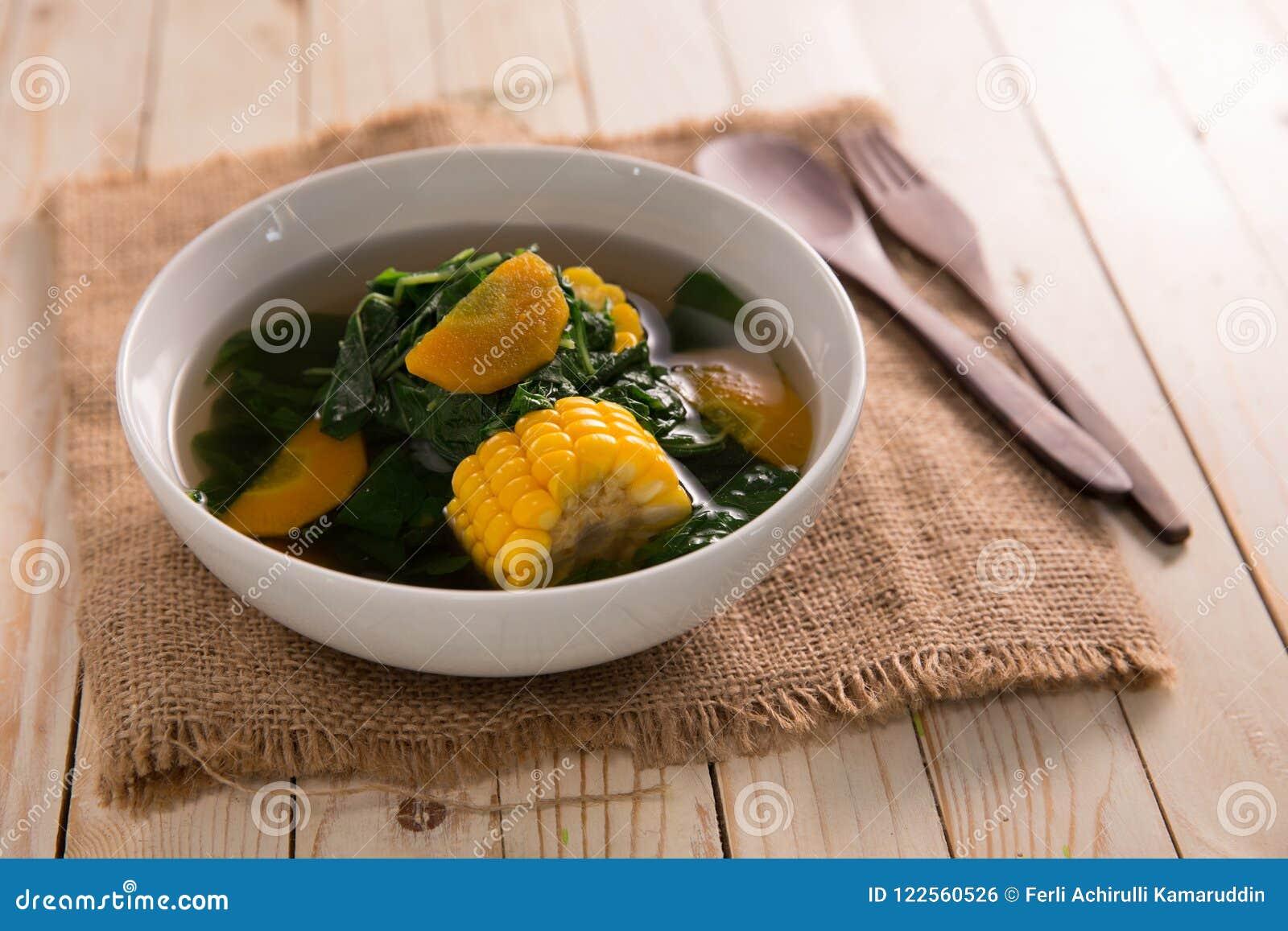 Sayur Bening Bayam Stock Photo Image Of Cuisine Sweet 122560526