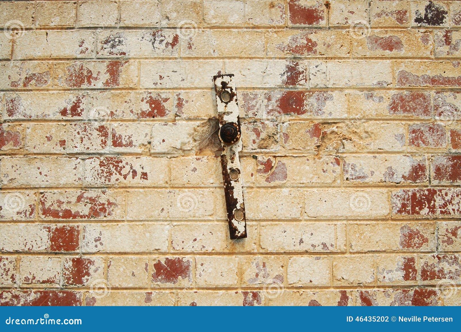 Sbiadire Muro Di Mattoni Dipinto Fotografia Stock - Immagine: 46435202
