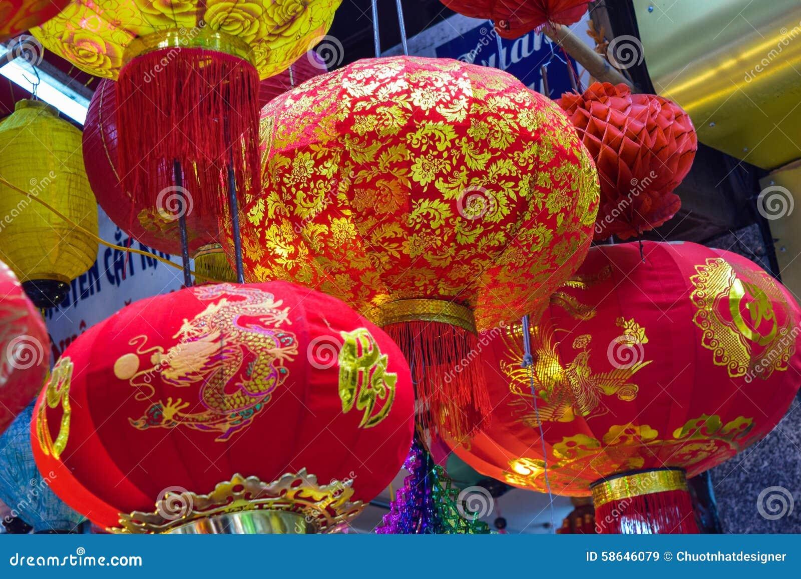 Scène colorée, vendeur amical sur la rue de lanterne de Hang Ma, lanterne au marché d air ouvert, culture traditionnelle le mi au