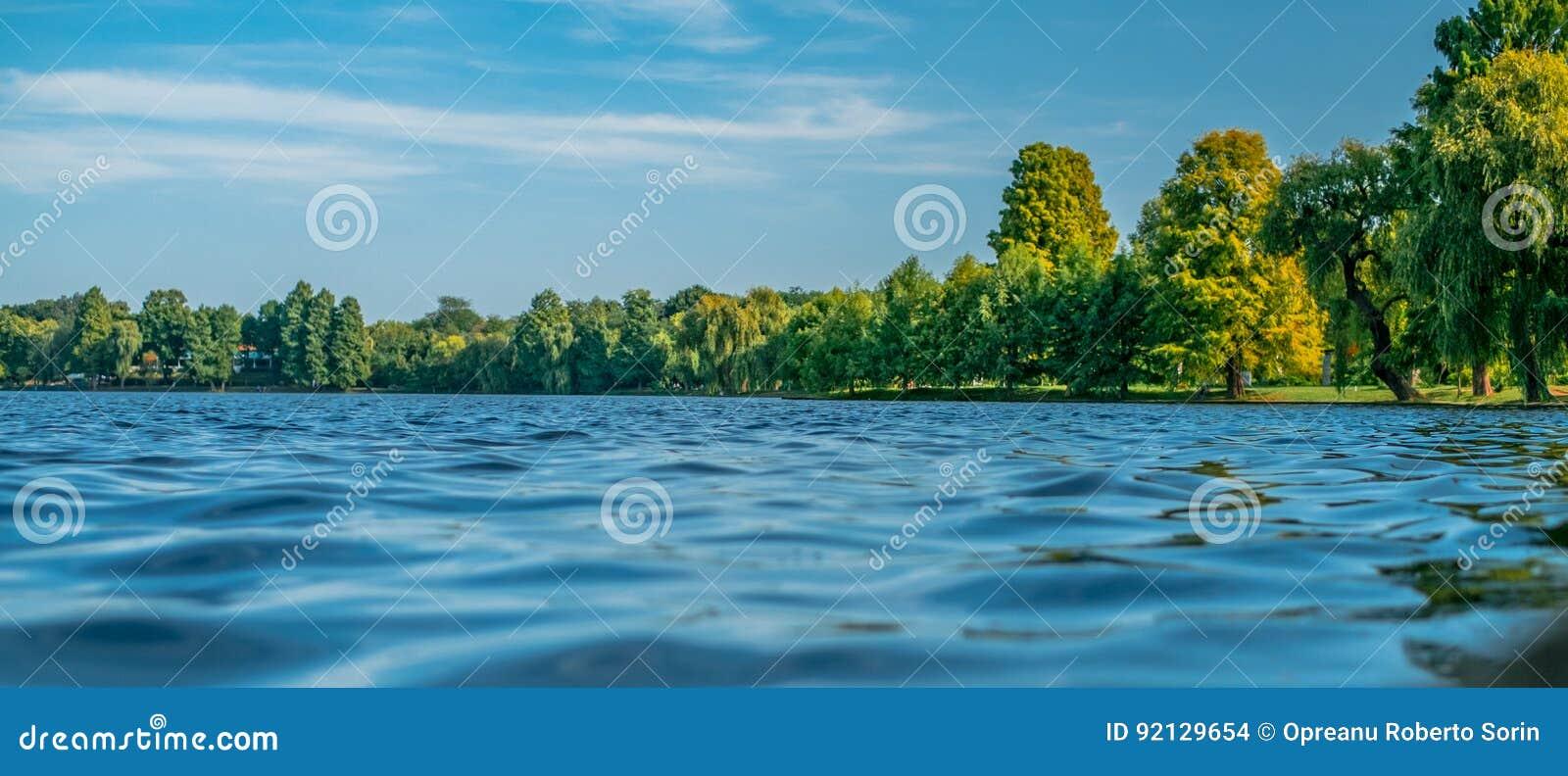 Scène d été sur le lac