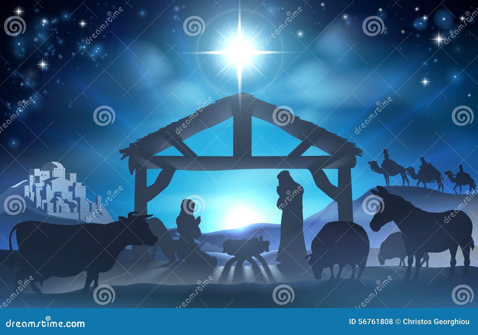 Scène de nativité de Noël