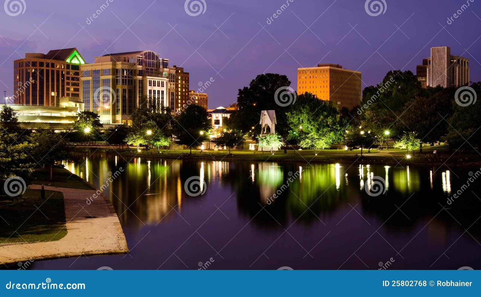 Scène de paysage urbain d Huntsville du centre, Alabama