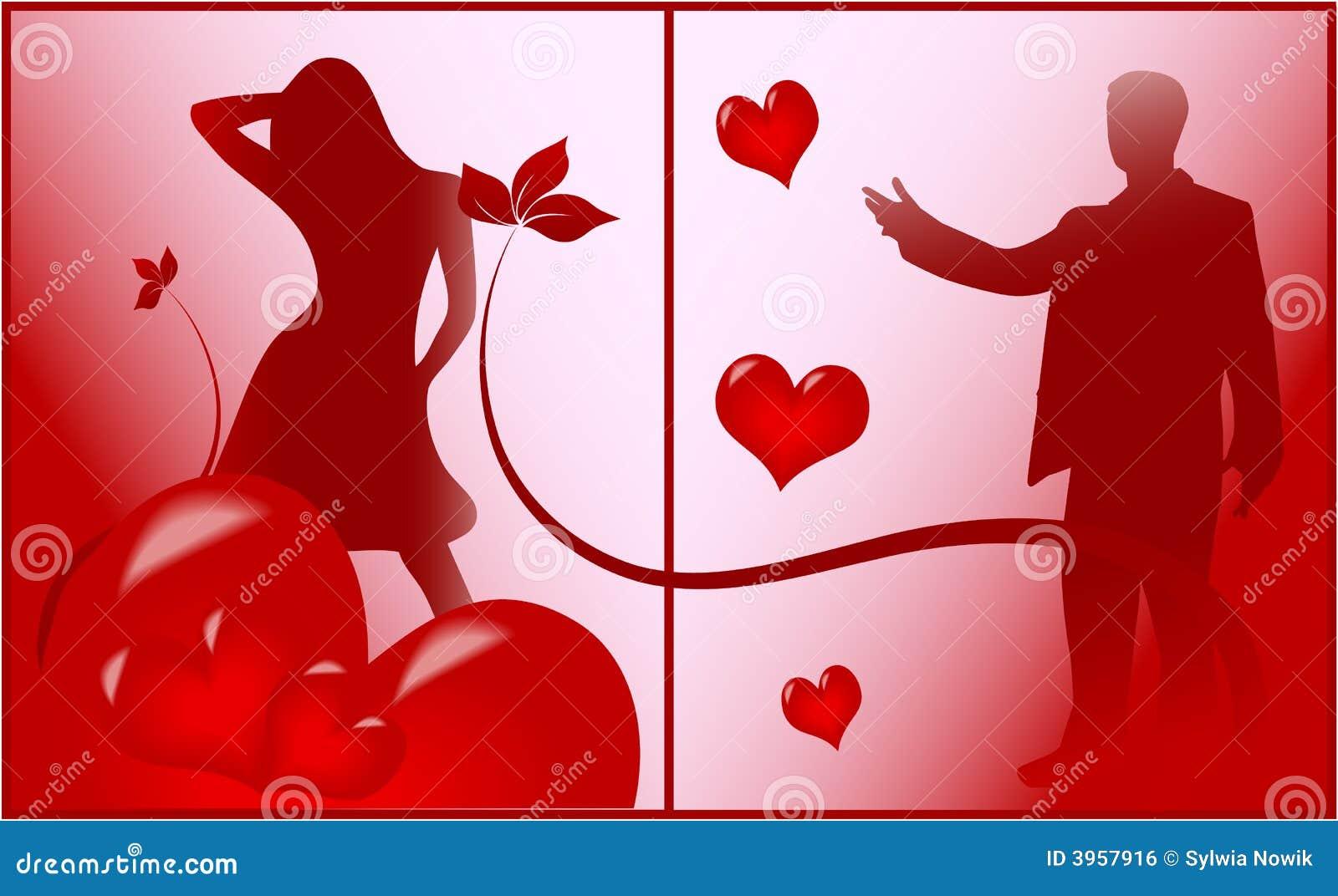 Scène romantique de l amour
