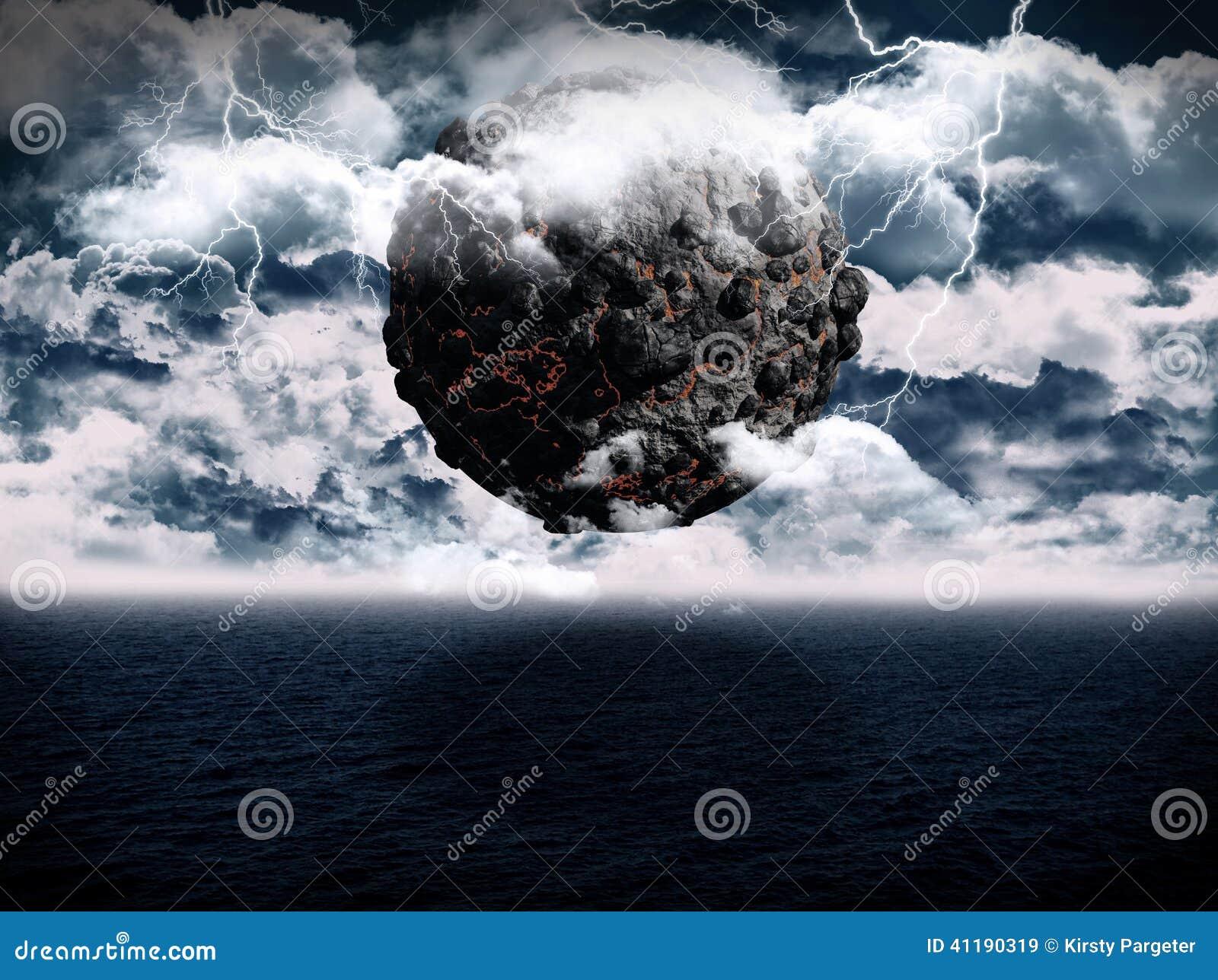 Scène surréaliste d océan de planète