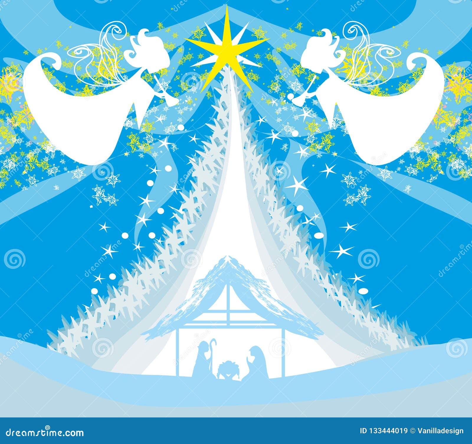Scène van de Kerstmis de godsdienstige geboorte van Christus