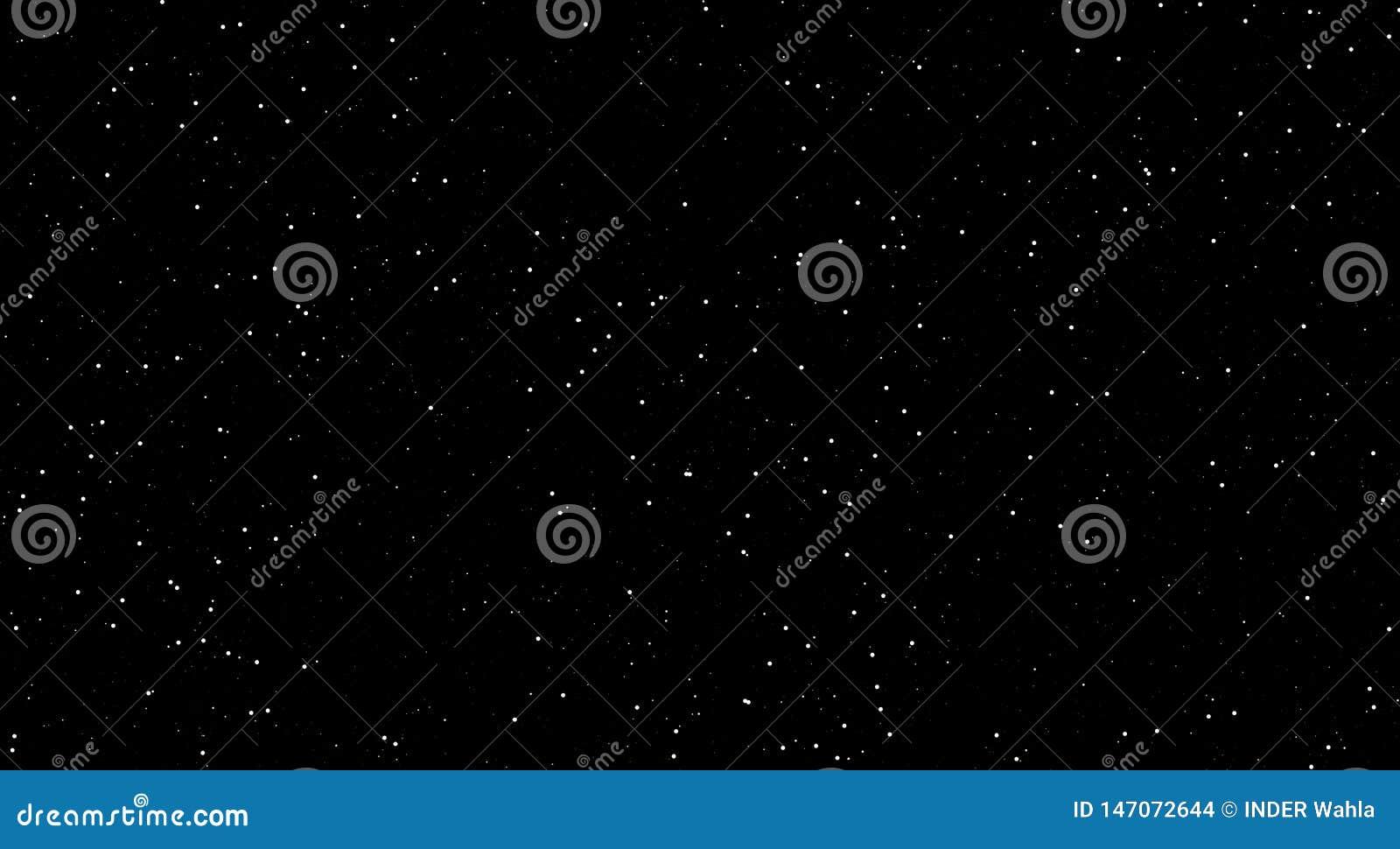 Sc?nes de nuit, ?toiles brillantes dans la nuit, fond noir avec les ?toiles lumineuses nuit impressionnante