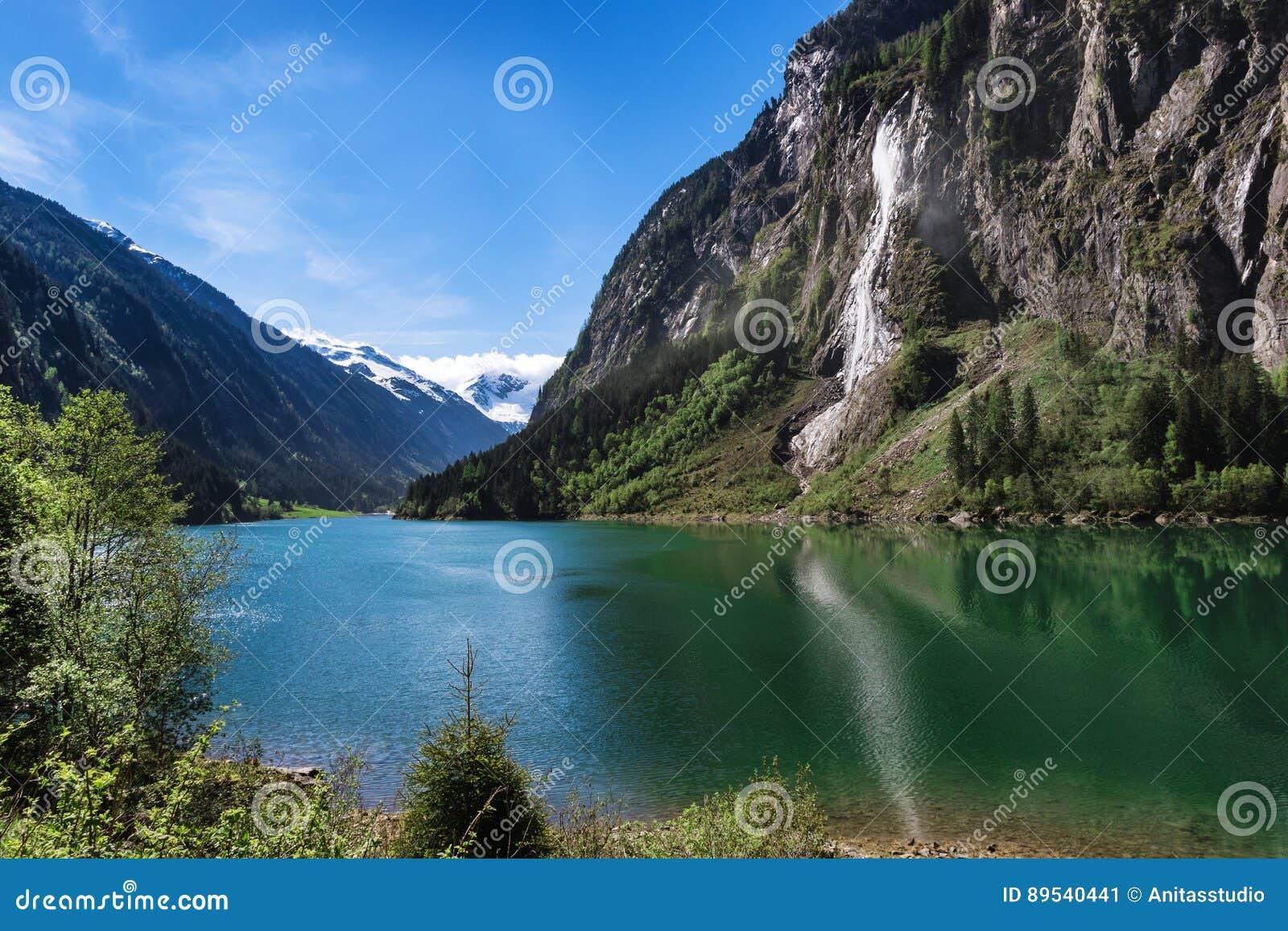 Scnique Alpin De Lac Mountain Paysage Autrichien Montagne Dt Tri D T Stillup