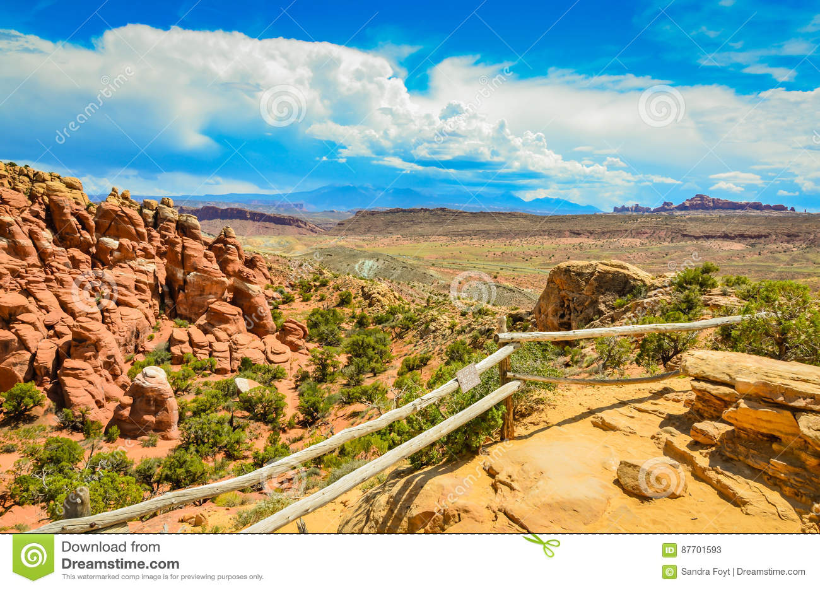 Scénique donnez sur - parc national de voûtes - Moab, Utah
