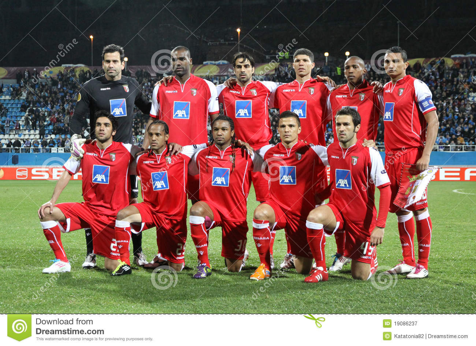 Braga Fc: SC Braga Team Pose For A Group Photo Editorial Photography