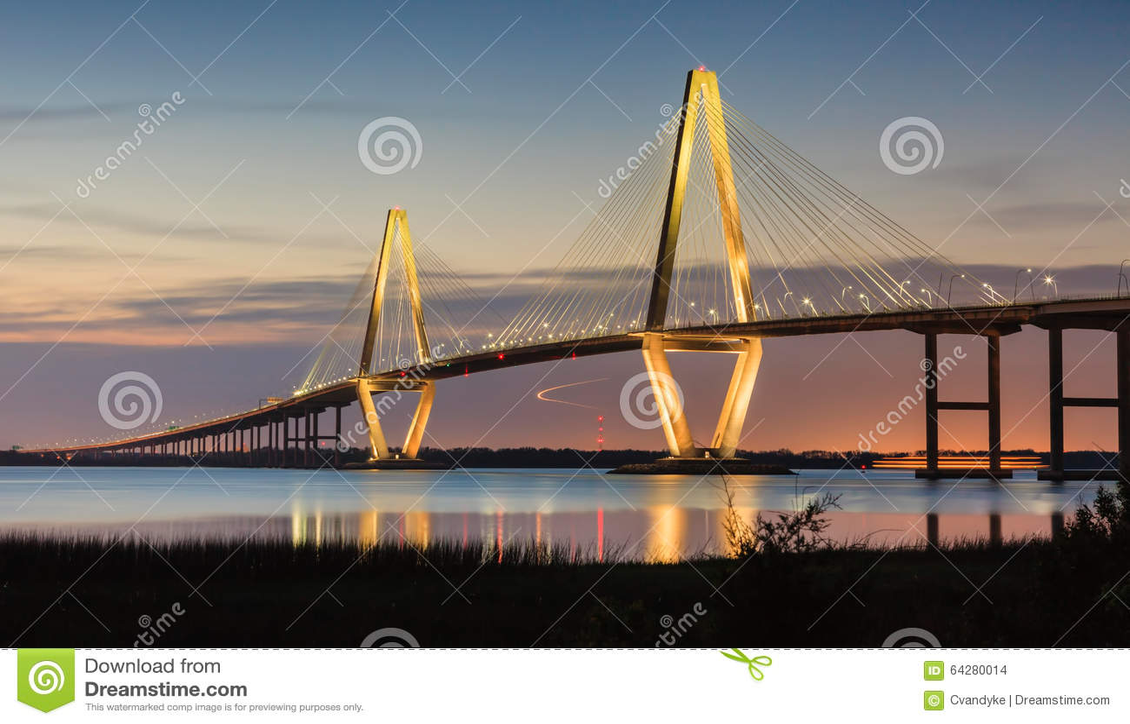 Sc de Charleston de pont d Arthur Ravenel New Cooper River