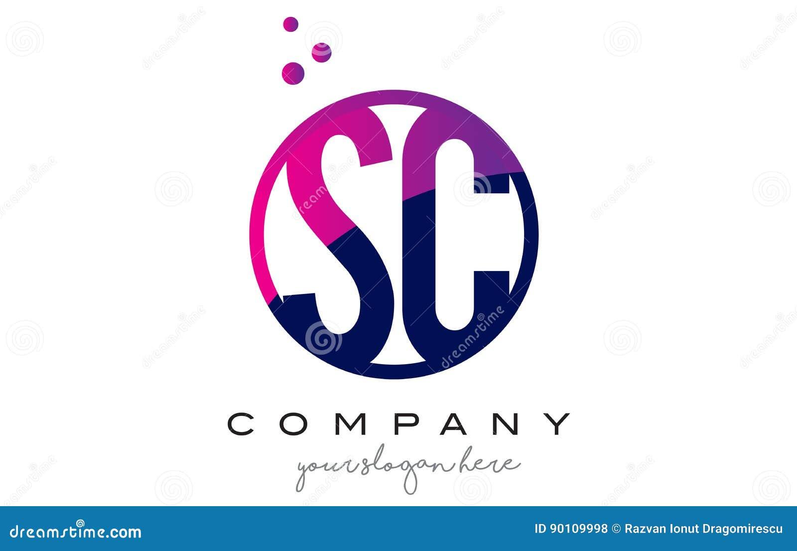 Sc s c circle letter logo design with purple dots bubbles stock sc s c circle letter logo design with purple dots bubbles biocorpaavc Images