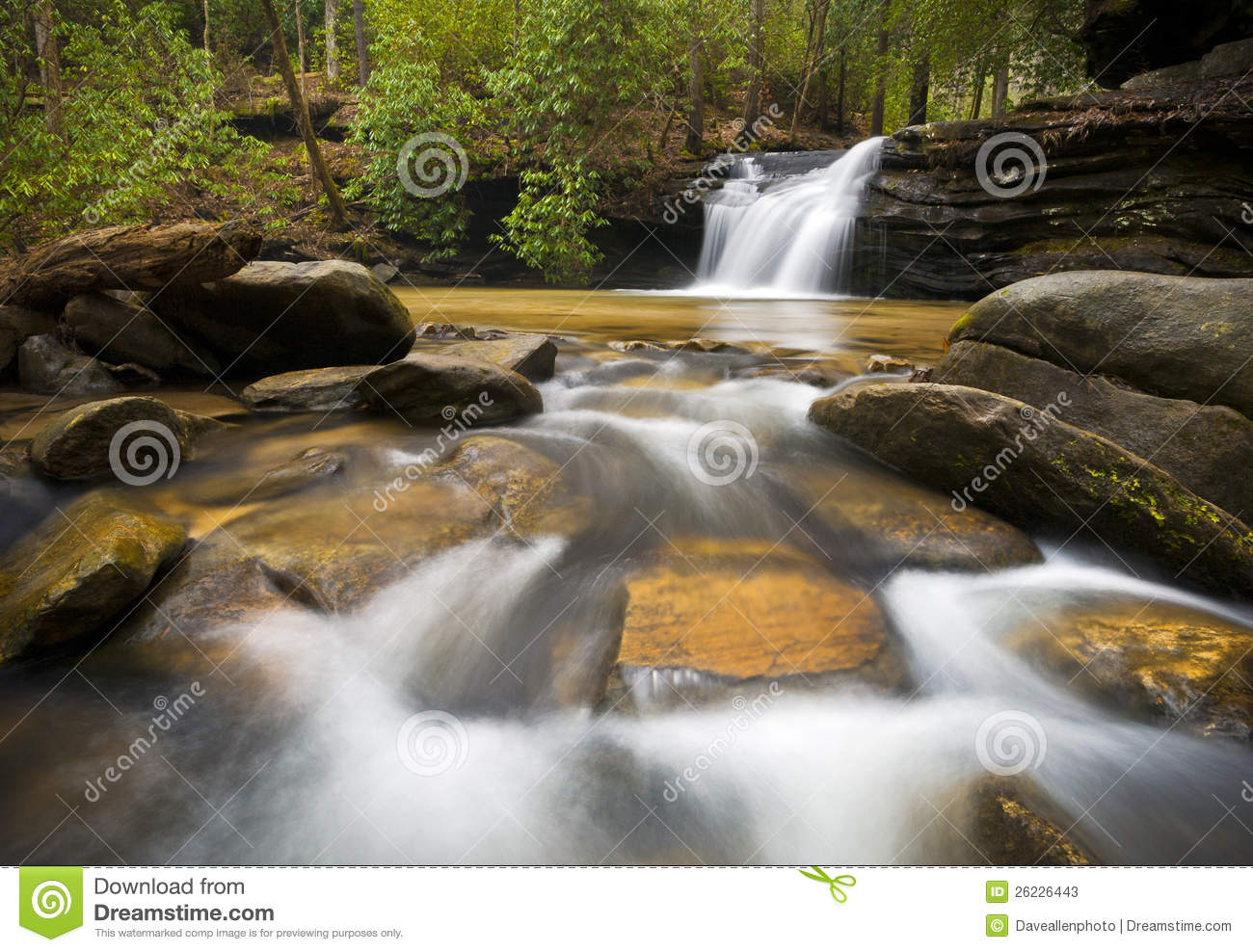 Download SC Waterfall Relaxing Landscape Blue Ridge Nature Stock Image - Image of forest, outdoors: 26226443