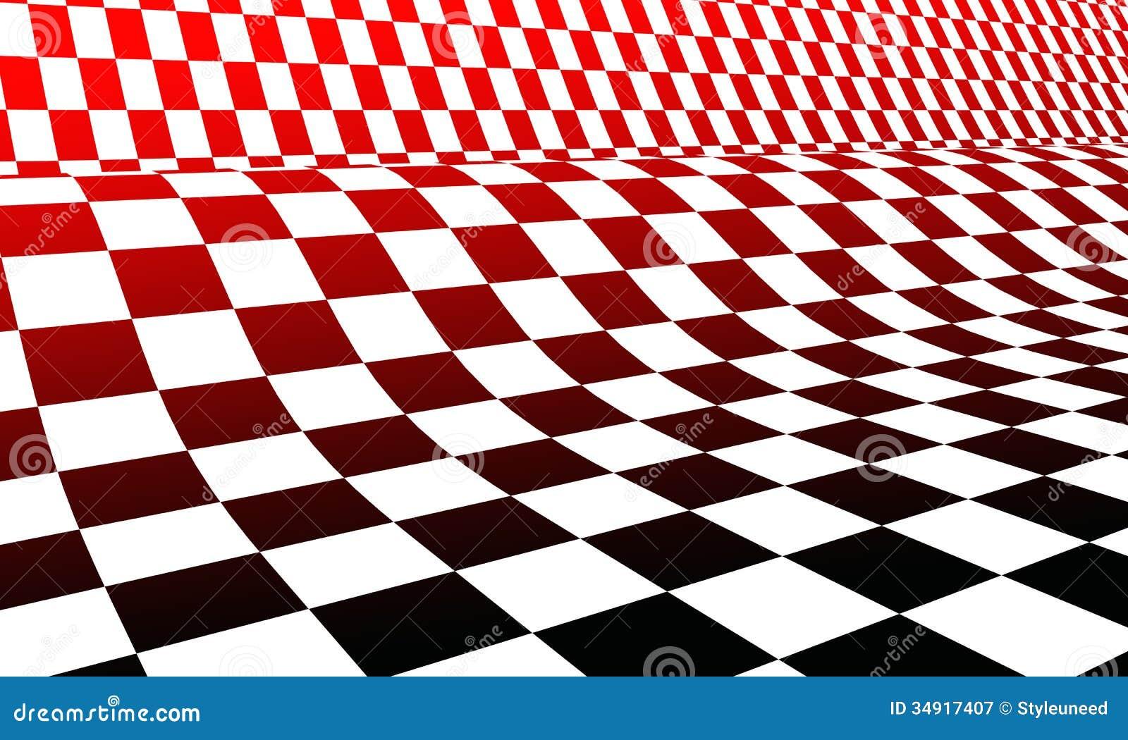 Scacchiera bianca e nera rossa illustrazione di stock