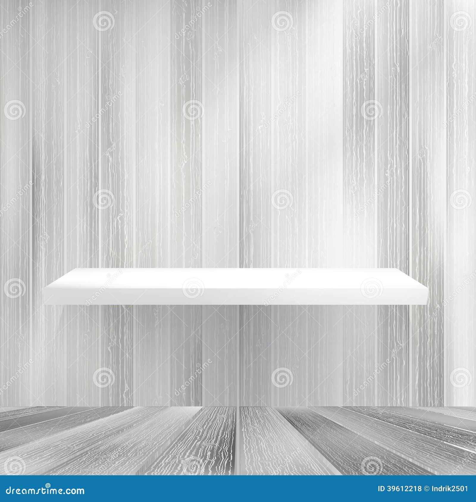 Scaffale per libri di legno bianco in bianco di strati for Scaffale legno bianco