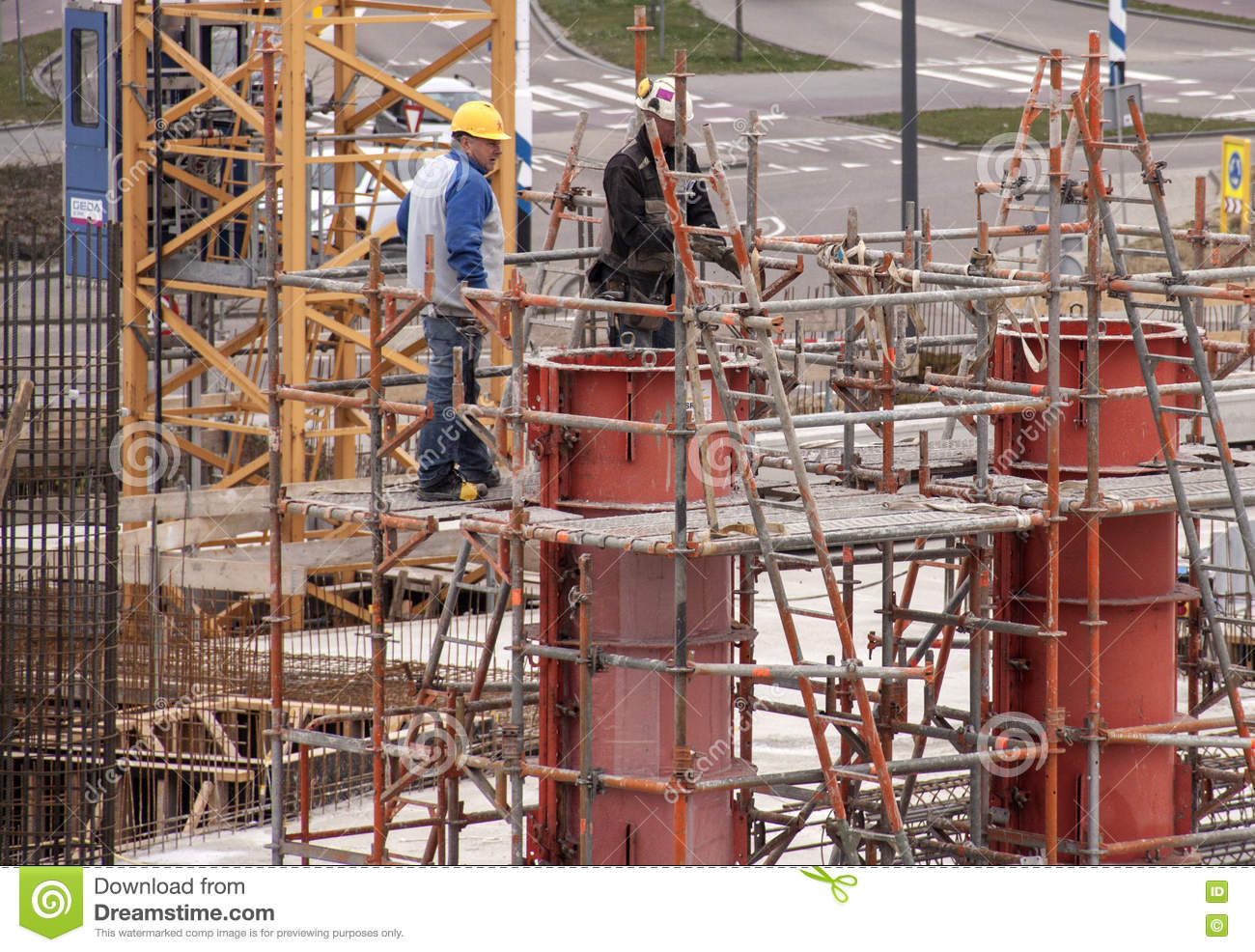 scaffolding in the new building editorial stock image image scaffolding in the new building editorial stock image