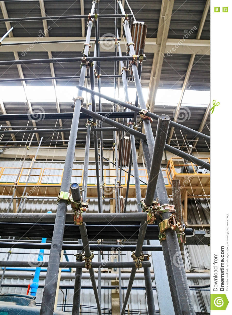 scaffolding pipe clamp and parts stock image image of hold device