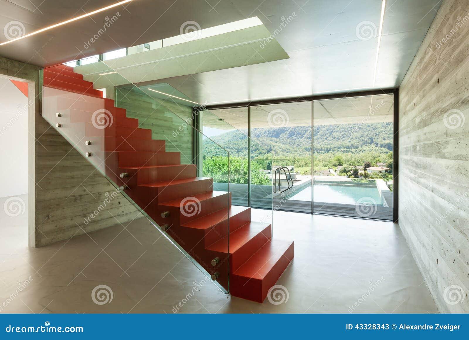 Scala interna e rossa immagine stock immagine di - Scala interna prezzi ...