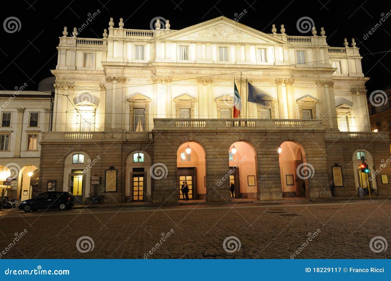 Scala Operen-Theater in Mailand Italien