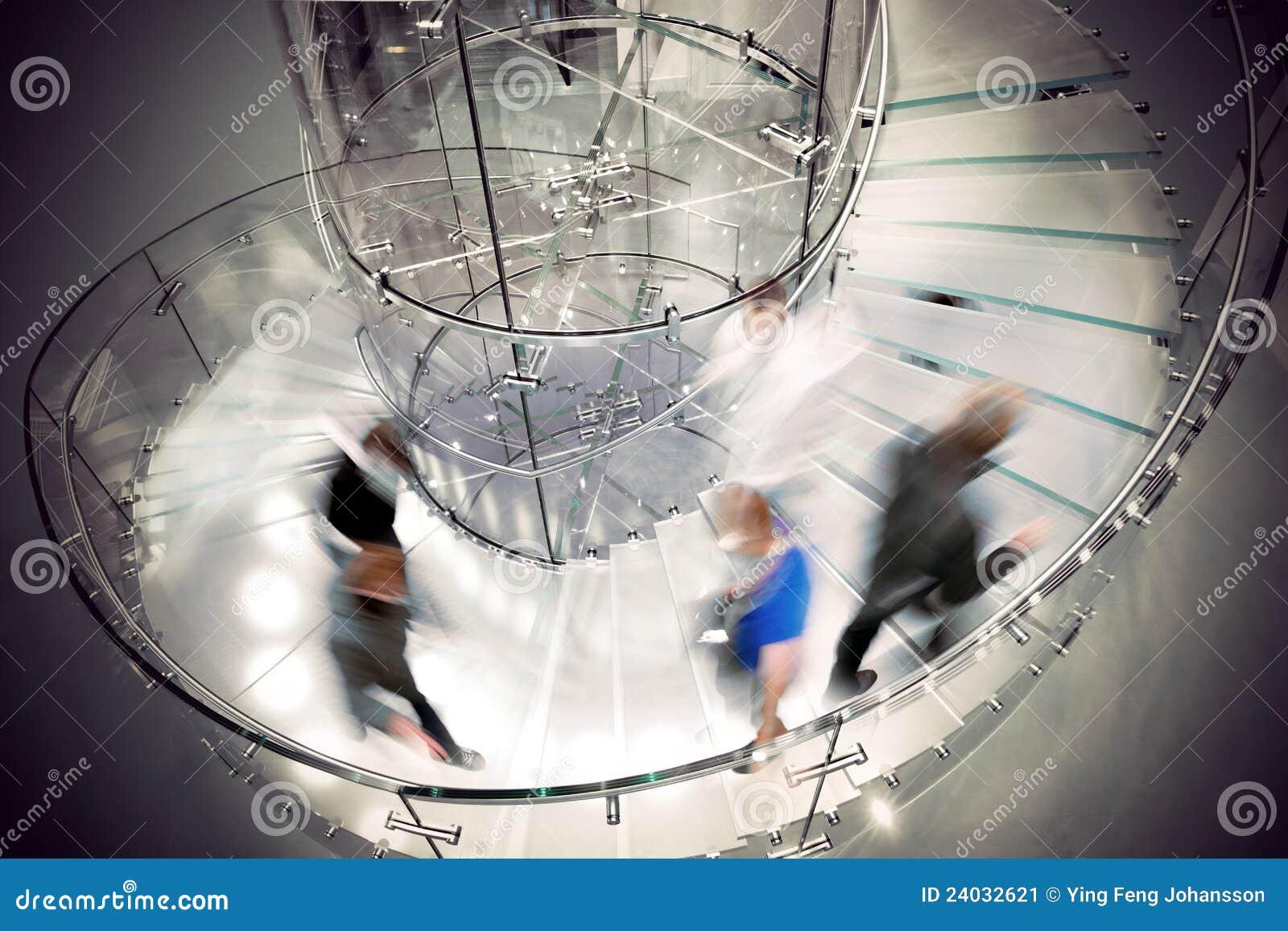 Scala a spirale trasparente immagine stock immagine di stairway