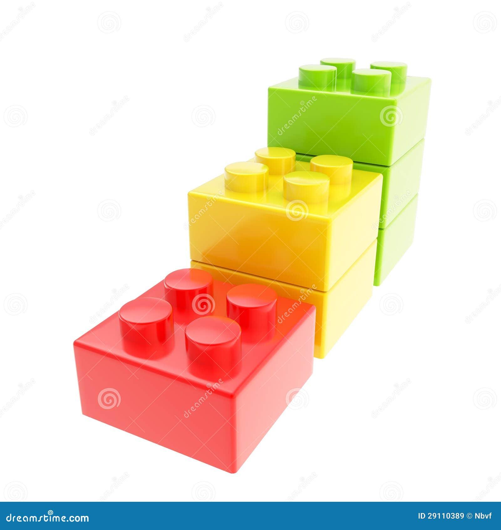 Scala in tre tappe fatta dei blocchetti del mattone della for Costo del mattone da costruire