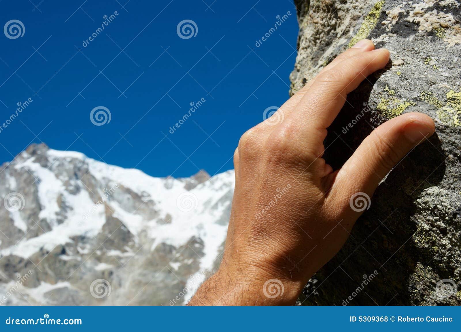 Download Scalatore della mano fotografia stock. Immagine di avventura - 5309368