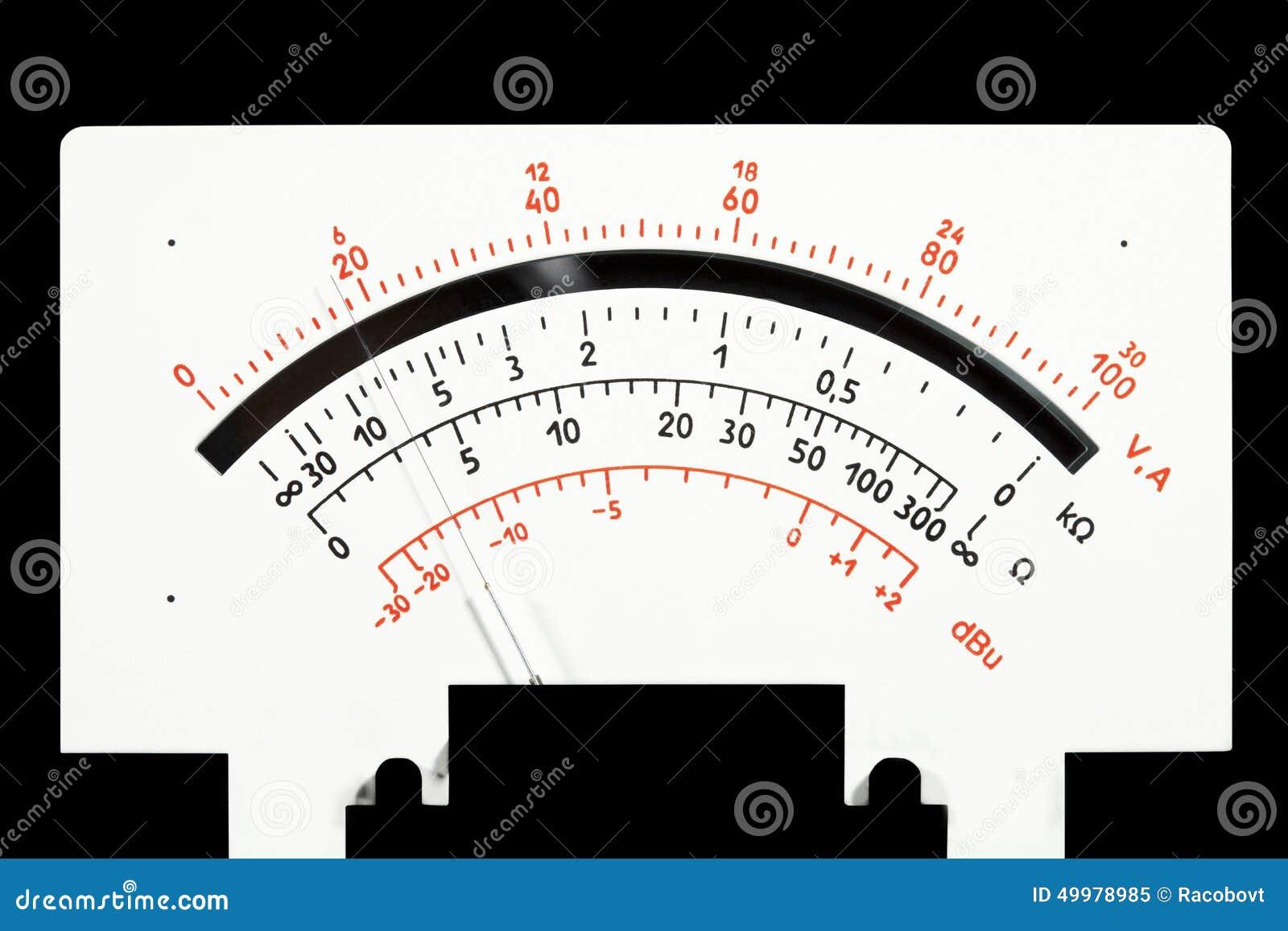 Analog Meter Background : Scale analog multimeter stock photo image