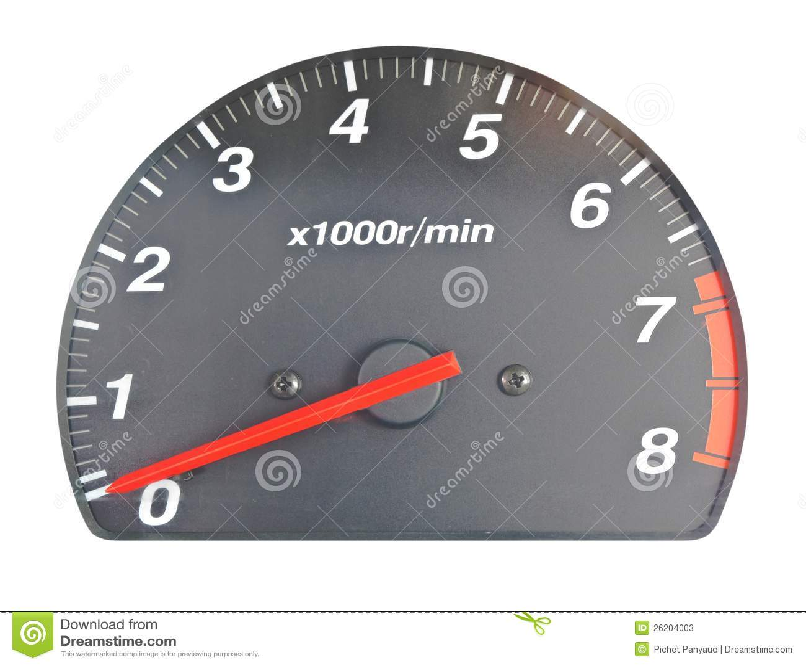 Scale av motorhastighet