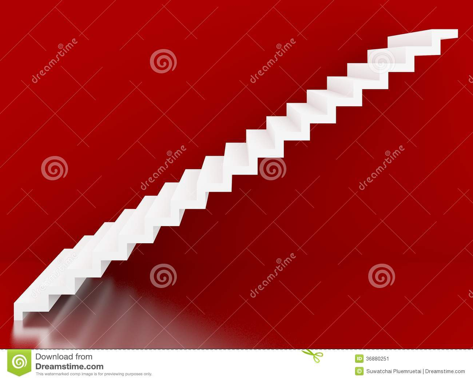 Download Scale Bianche Nell'interno Rosso Del Fondo, 3d Illustrazione di Stock - Illustrazione di blocco, luce: 36880251