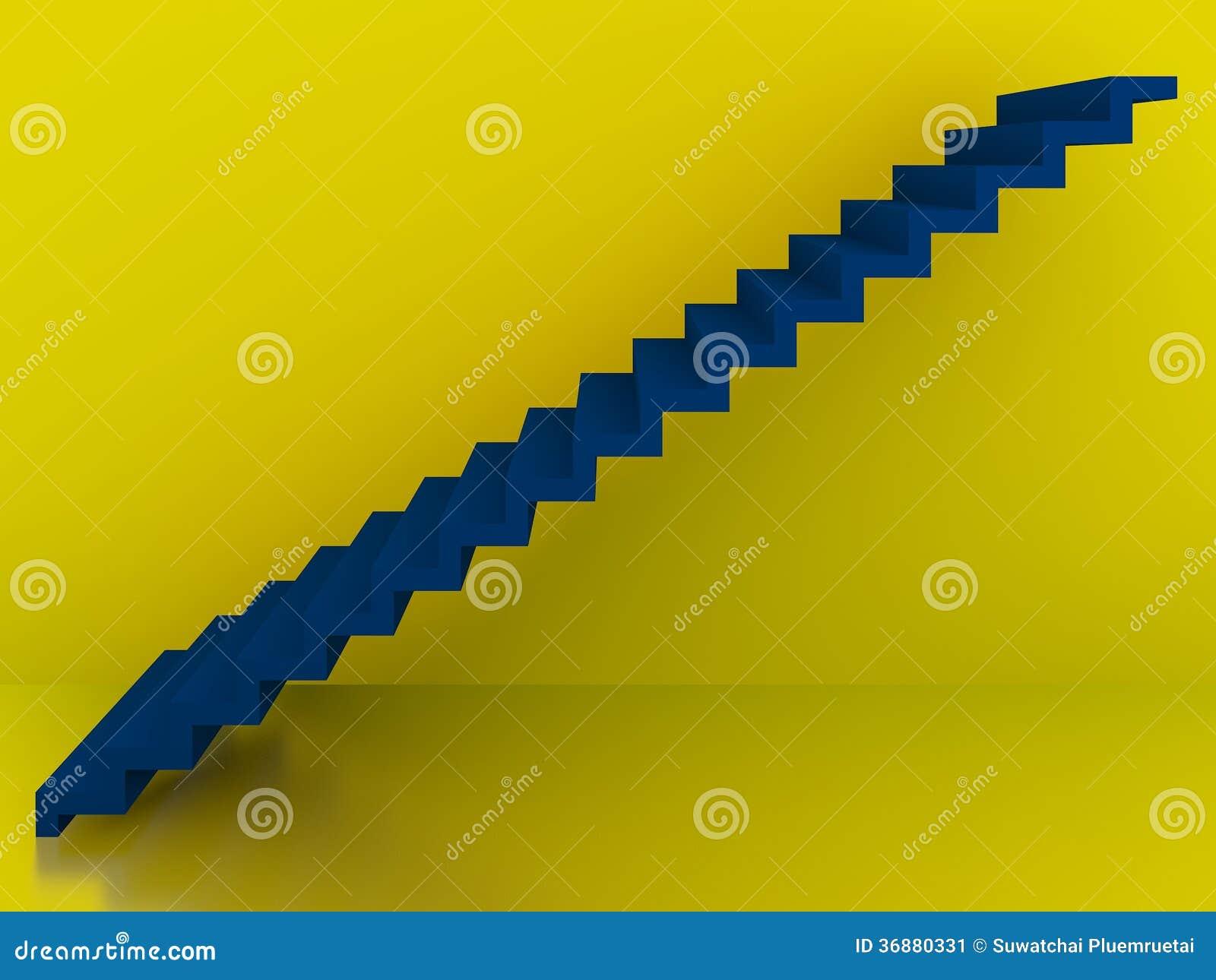Download Scale Blu Nell'interno Giallo Del Fondo, 3d Illustrazione di Stock - Illustrazione di blocco, corridoio: 36880331