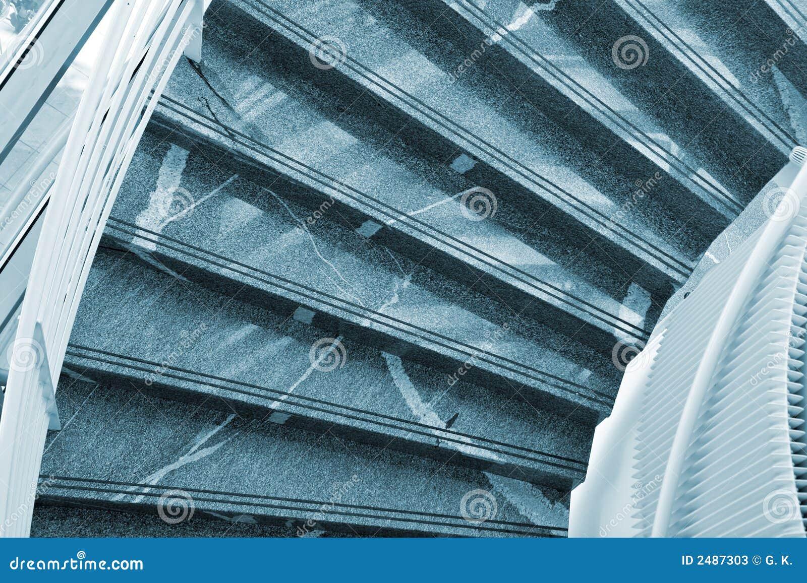 Scale di marmo moderne immagine stock immagine di costruzione 2487303 - Scale moderne in marmo ...