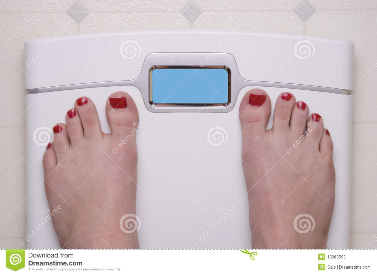 Scale With Female Feet Stock Photos Image 13663593