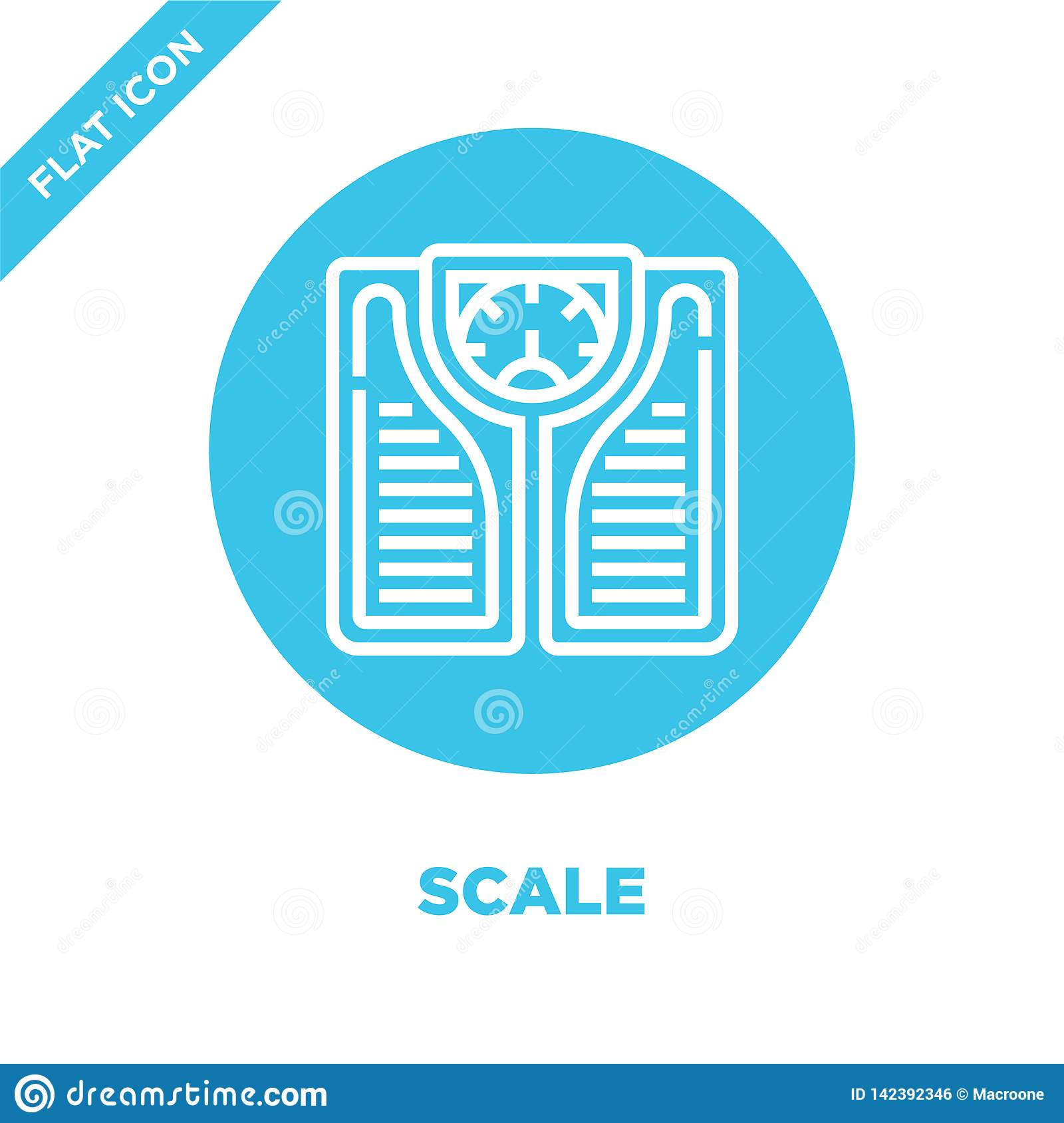 scale icon vector from healthy life collection. Thin line scale outline icon vector  illustration. Linear symbol for use on web
