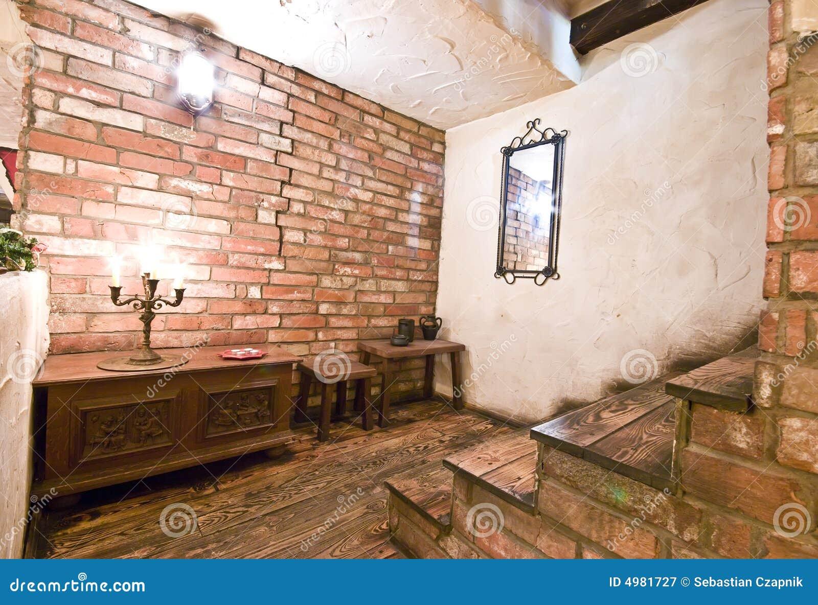 Scale interne rustiche immagine stock immagine di smalto for Foto di case rustiche