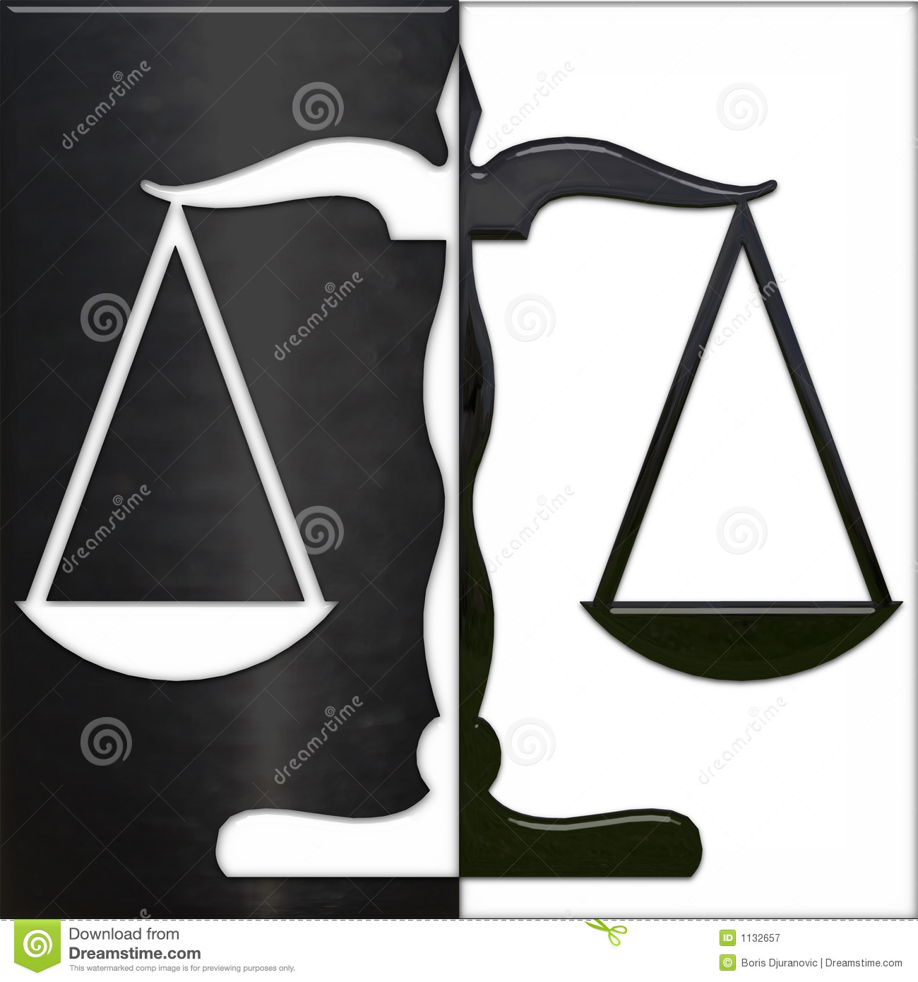 Scale of Justice black and white