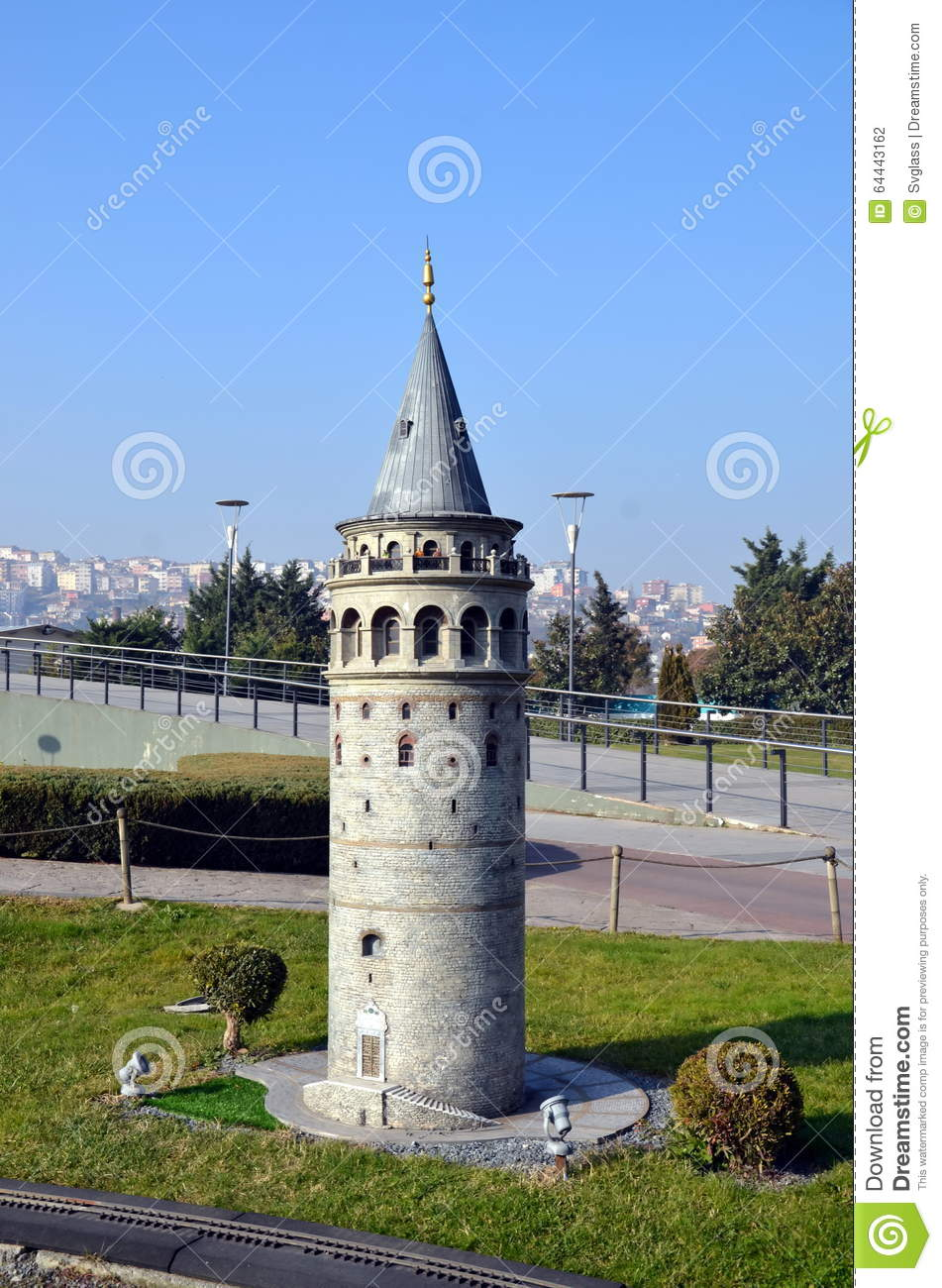 Scale model of Galata tower