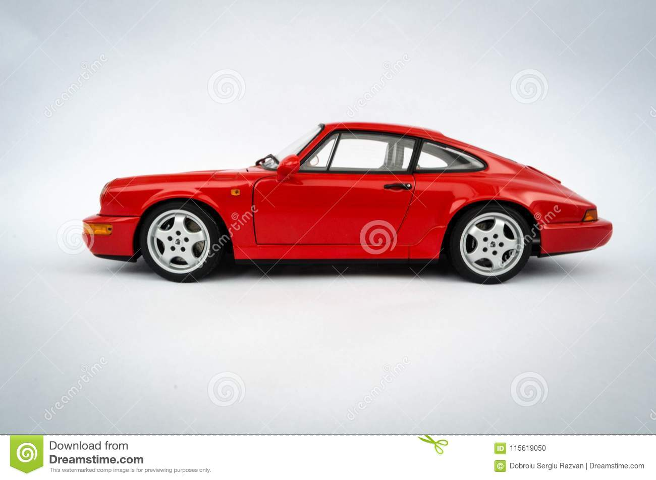 Porsche 911 Carrera Rs 118 Autoart Model Editorial Image Of 1 18 Scale An From