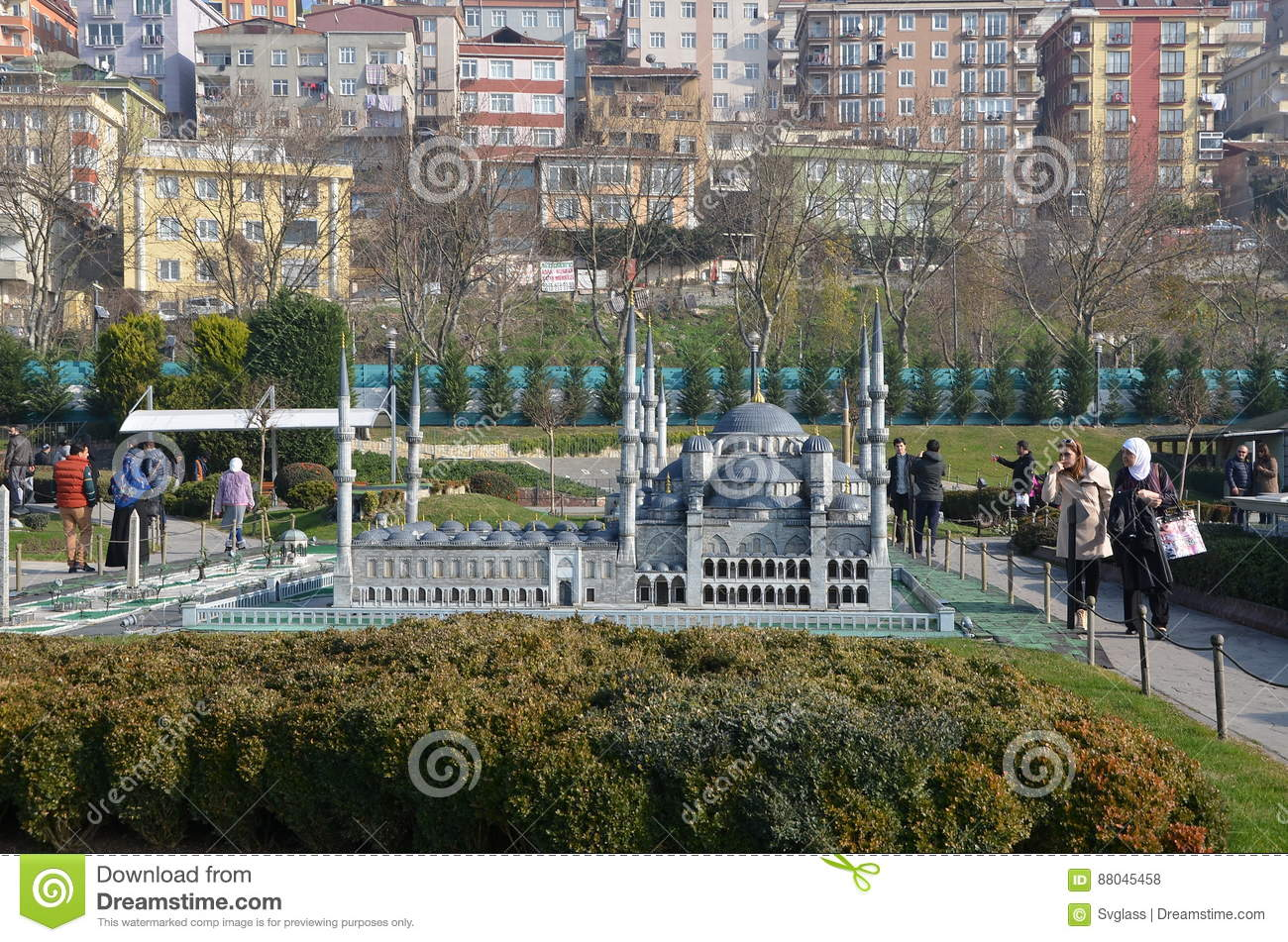 Scale model of Sultan Ahmed Mosque