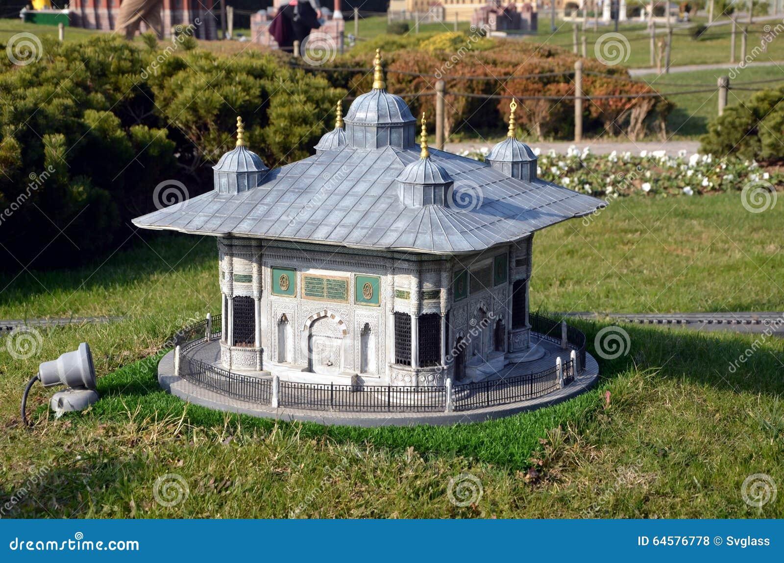 Scale model of tomb of Sultan Mehmed III